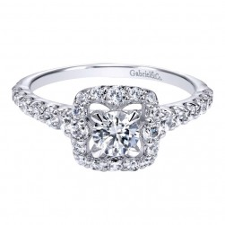 Gabriel 14 Karat Contemporary Engagement Ring ER911906R0W44JJ