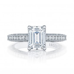 HT2553EC85X65 Platinum Tacori Classic Crescent Engagement Ring