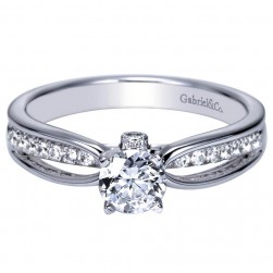 Gabriel 14 Karat Contemporary Engagement Ring ER8571W44JJ