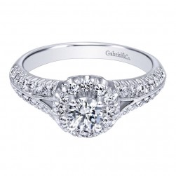 Gabriel 14 Karat Contemporary Engagement Ring ER910151W44JJ