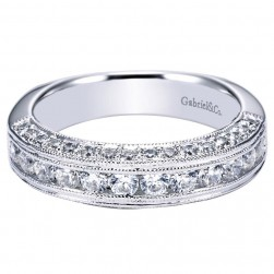 Gabriel 14 Karat Victorian Wedding Band WB4137W44JJ