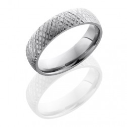 Lashbrook 6D DISC 5 Satin Titanium Wedding Ring or Band