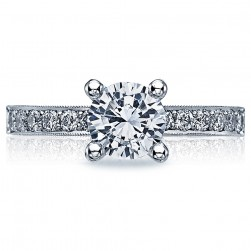 Tacori Crescent 18 Karat Engagement Ring 41-25RD65
