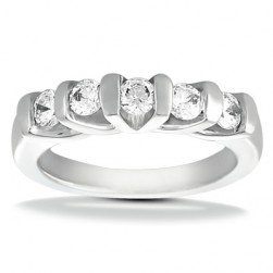 Taryn Collection Platinum Wedding Ring TQD B-292