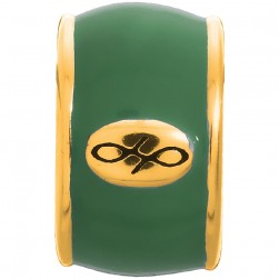 Endless Jewelry Green Endless Enamel Gold Plated Charm 52100-6