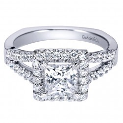 Gabriel 14 Karat Contemporary Engagement Ring ER4113W44JJ