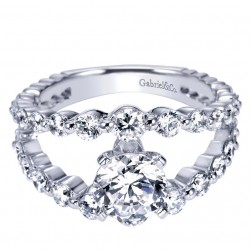 Gabriel 14 Karat Contemporary Engagement Ring ER5314W44JJ