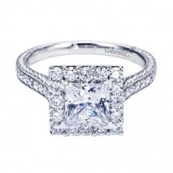 Gabriel 14 Karat Contemporary Engagement Ring ER7481W44JJ
