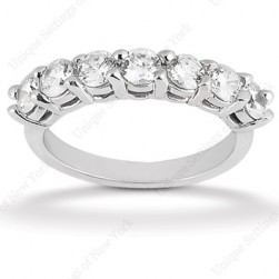 Diamond Seven Stone Band 18 Karat Taryn Collection TQD B-0672
