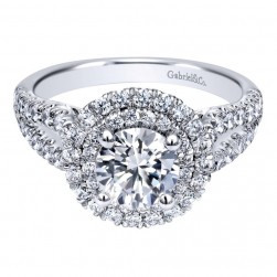 Gabriel 14 Karat Contemporary Engagement Ring ER10177W44JJ