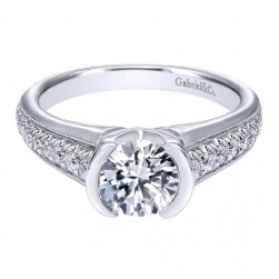 Gabriel 14 Karat Contemporary Engagement Ring ER10479W44JJ