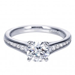 Gabriel 14 Karat Contemporary Engagement Ring ER8223W44JJ