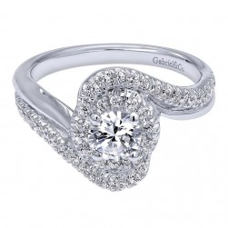 Gabriel 14 Karat Contemporary Engagement Ring ER910084W44JJ