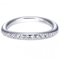 Gabriel 14 Karat Contemporary Wedding Band WB4214W44JJ