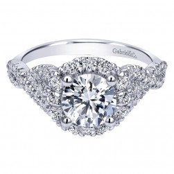 Gabriel 14 Karat Contemporary Engagement Ring ER11722R4W44JJ