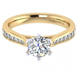 Gabriel 14 Karat Contemporary Engagement Ring ER7229M44JJ