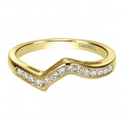 Gabriel 14 Karat Contemporary Wedding Band WB1700Y43JJ