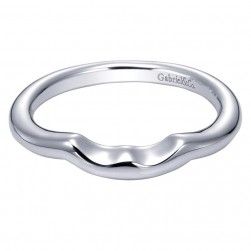 Gabriel 14 Karat Contemporary Wedding Band WB5995W4JJJ