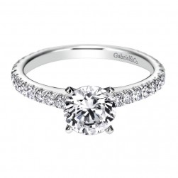 Gabriel 14 Karat Contemporary Engagement Ring ER6700W44JJ