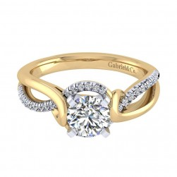 Gabriel 14 Karat Contemporary Engagement Ring ER7801M44JJ