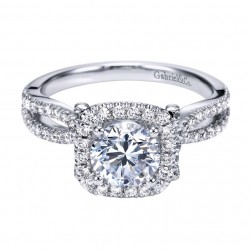 Gabriel 14 Karat Contemporary Engagement Ring ER7806W44JJ