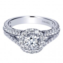 Gabriel 14 Karat Contemporary Engagement Ring ER98524W44JJ