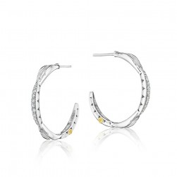 SE196 Tacori Ivy Lane Petite Crescent Curve Hoop Earrings