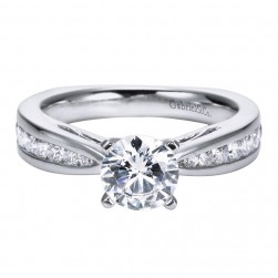 Gabriel 14 Karat Contemporary Engagement Ring ER5988W44JJ
