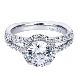 Gabriel 14 Karat Contemporary Engagement Ring ER6410W44JJ