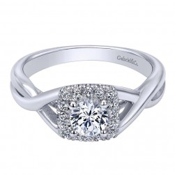 Gabriel 14 Karat Contemporary Engagement Ring ER910154W44JJ