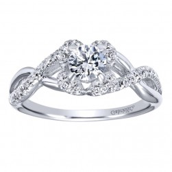 Gabriel 14 Karat Contemporary Engagement Ring ER910155W44JJ