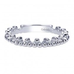 Gabriel Fashion 14 Karat Stackable Stackable Ladies' Ring LR6360W4JJJ