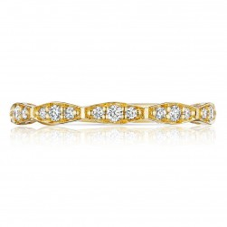 Tacori 46-234Y 18 Karat Sculpted Crescent Diamond Wedding Band