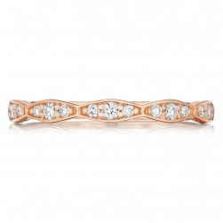 Tacori 46-2PK 18 Karat Pretty in Pink Diamond Wedding Band