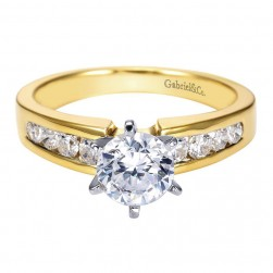 Gabriel 14 Karat Contemporary Engagement Ring ER2200M44JJ