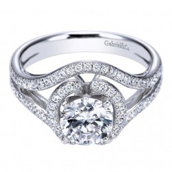 Gabriel 14 Karat Contemporary Engagement Ring ER5348W44JJ