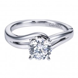 Gabriel 14 Karat Contemporary Engagement Ring ER6680W4JJJ