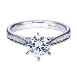 Gabriel 14 Karat Contemporary Engagement Ring ER7229W44JJ
