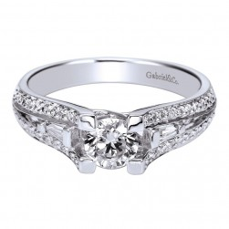 Gabriel 14 Karat Contemporary Engagement Ring ER94284W44JJ