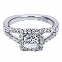 Gabriel 14 Karat Contemporary Engagement Ring ER6395W44JJ