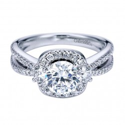 Gabriel 14 Karat Contemporary Engagement Ring ER6950W44JJ