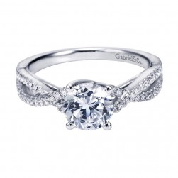 Gabriel 14 Karat Contemporary Engagement Ring ER7546W44JJ