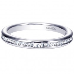 Gabriel 14 Karat Contemporary Wedding Band WB8893W44JJ