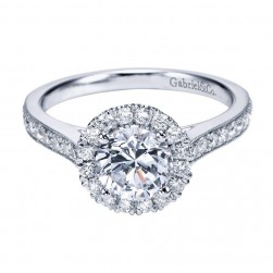 Gabriel 14 Karat Contemporary Engagement Ring ER7278W44JJ