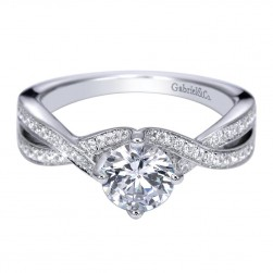 Gabriel 14 Karat Contemporary Engagement Ring ER8056W44JJ