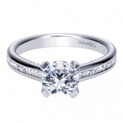 Gabriel 14 Karat Contemporary Engagement Ring ER8956W44JJ