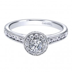 Gabriel 14 Karat Contemporary Engagement Ring ER910945W44JJ