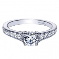 Gabriel 14 Karat Contemporary Engagement Ring ER98584W44JJ