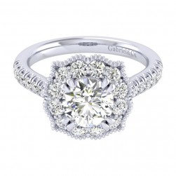Gabriel 14 Karat Perfect Match Engagement Ring ER039C6ACW44JJ