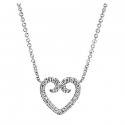 Gabriel Fashion 14 Karat Eternal Love Heart Necklace NK4022W45JJ